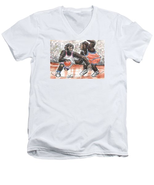 Out Of My Way Men's V-Neck T-Shirt by George I Perez