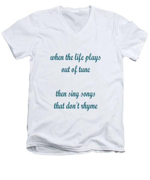 Out Of Tune Faded Men's V-Neck T-Shirt