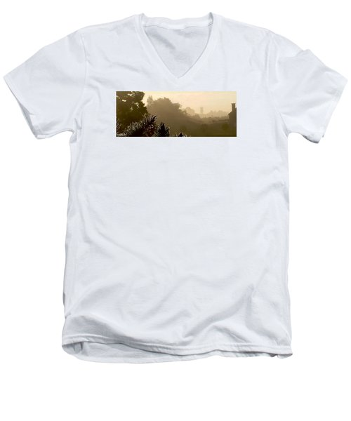 Men's V-Neck T-Shirt featuring the photograph Out The Front Door by Steven Lebron Langston