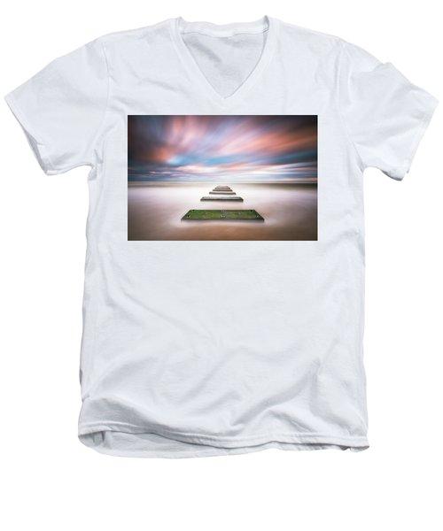 Outer Banks North Carolina Seascape Nags Head Nc Men's V-Neck T-Shirt