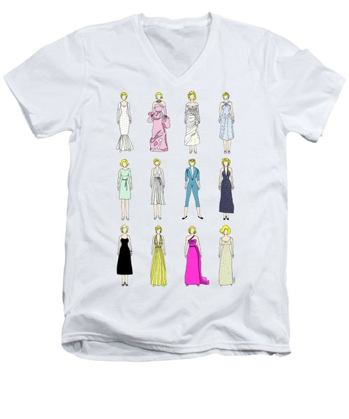 Outfits Of Marilyn Fashion Men's V-Neck T-Shirt by Notsniw Art
