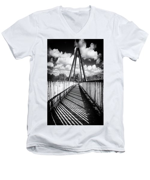 Men's V-Neck T-Shirt featuring the photograph Over And Under by Nick Bywater