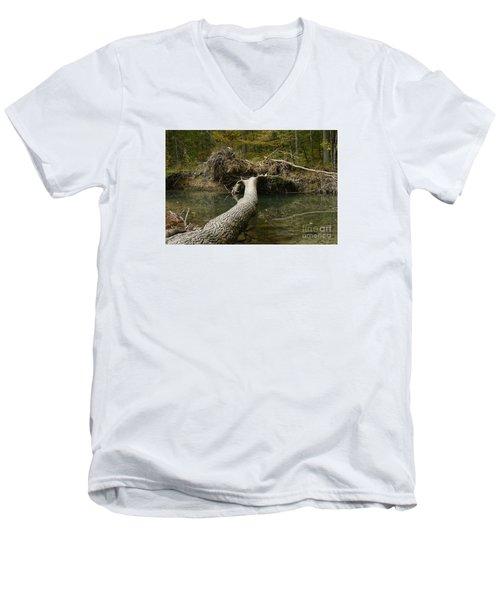 Over On Clover Men's V-Neck T-Shirt