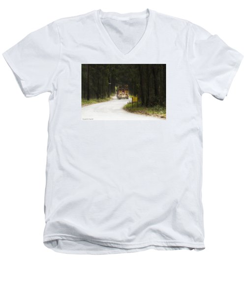 Men's V-Neck T-Shirt featuring the photograph Over Size 01 by Kevin Chippindall