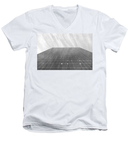 Men's V-Neck T-Shirt featuring the photograph Over The City by Valentino Visentini