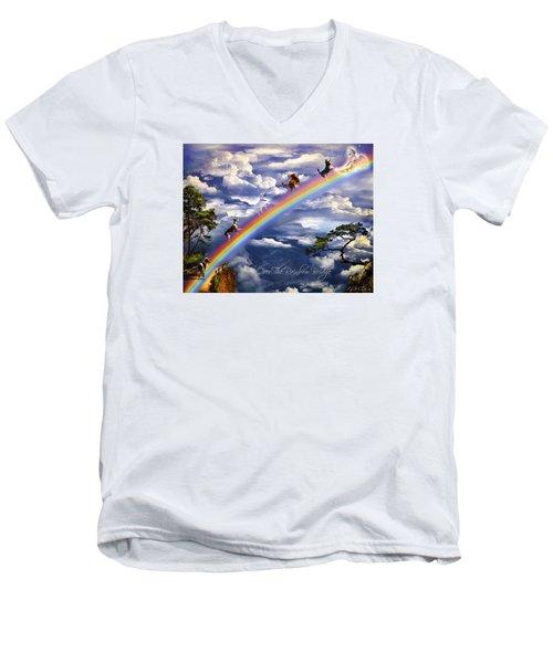 Over The Rainbow Bridge Men's V-Neck T-Shirt