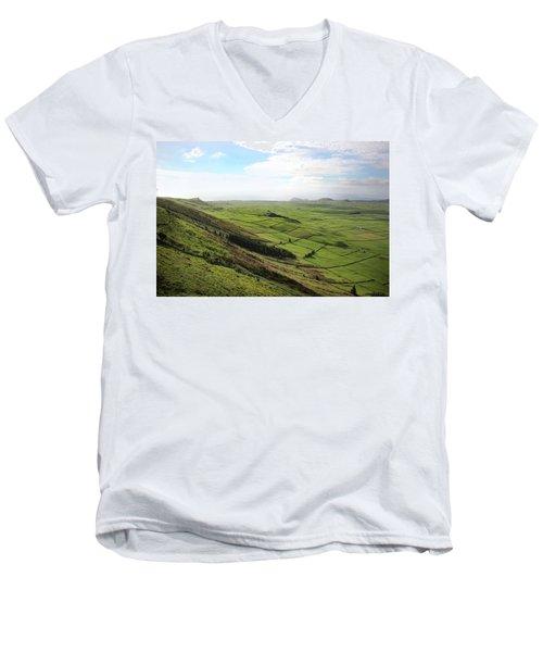 Over The Rim On Terceira Island, The Azores Men's V-Neck T-Shirt