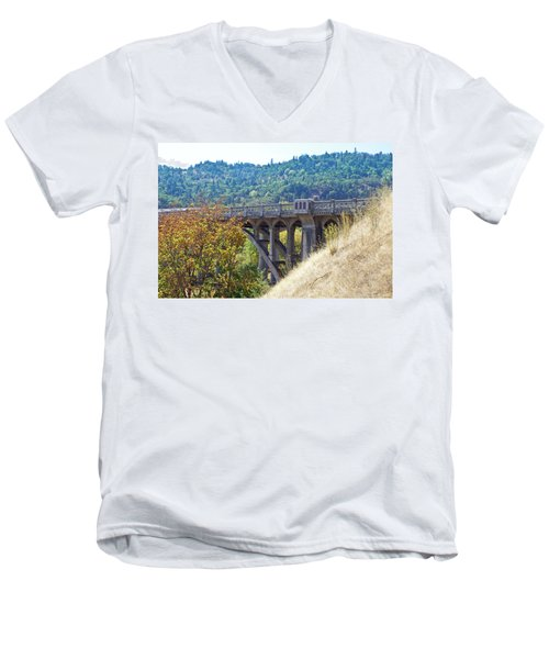Overpass Underpinnings Men's V-Neck T-Shirt by Adria Trail