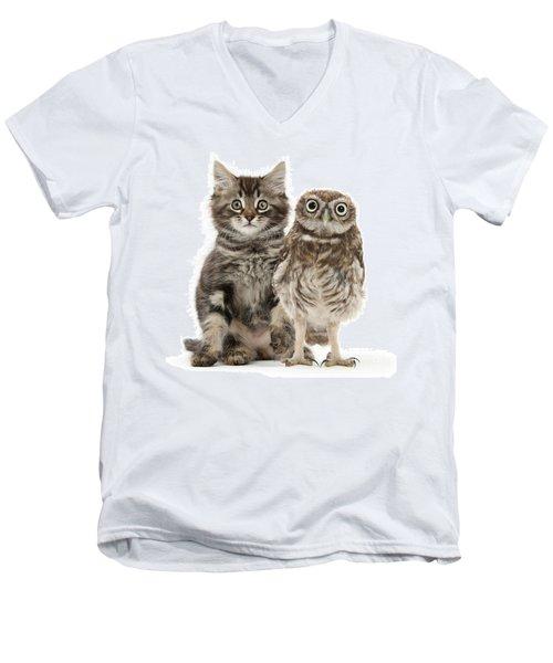 Owling And Yowling Men's V-Neck T-Shirt