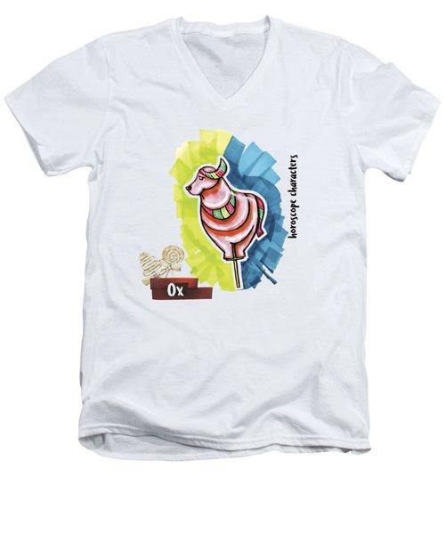 Ox Horoscope Men's V-Neck T-Shirt