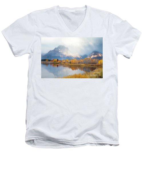 Oxbow Bend Turnout, Grand Teton National Park Men's V-Neck T-Shirt