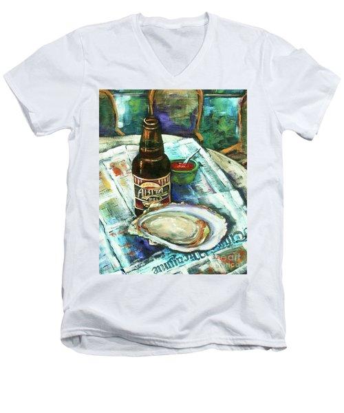 Oyster And Amber Men's V-Neck T-Shirt