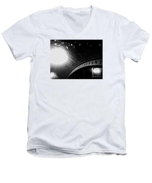 Oyster Bar At Grand Central Men's V-Neck T-Shirt by James Aiken