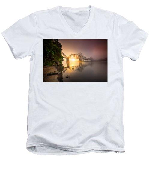 Railroad Bridge Men's V-Neck T-Shirt