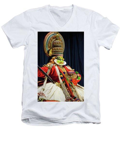 Pacha Vesham Men's V-Neck T-Shirt