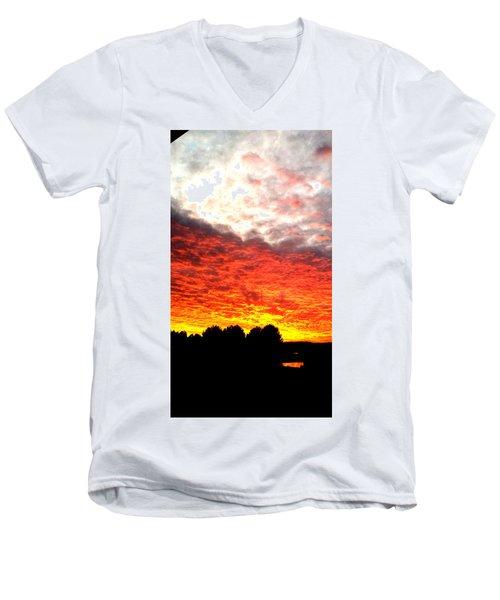 Pacific Coast Skies Men's V-Neck T-Shirt