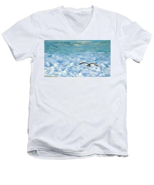 Pacific Golden Plover Flying Men's V-Neck T-Shirt