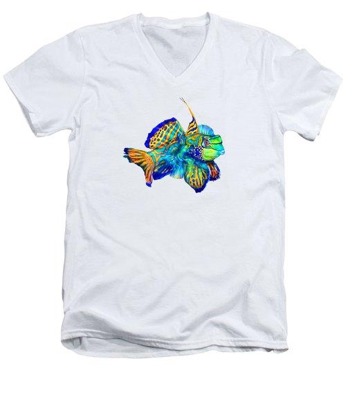Pacific Mandarinfish Men's V-Neck T-Shirt