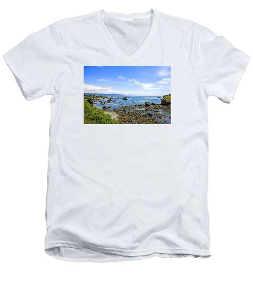 Pacific Northwest Men's V-Neck T-Shirt by Chris Smith