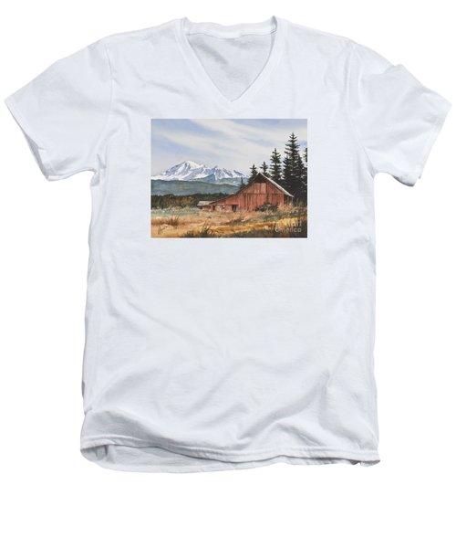 Pacific Northwest Landscape Men's V-Neck T-Shirt
