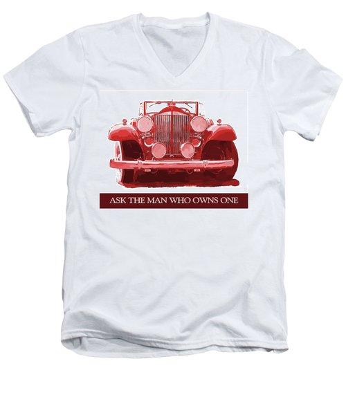 Packard Ask The Man Red Men's V-Neck T-Shirt