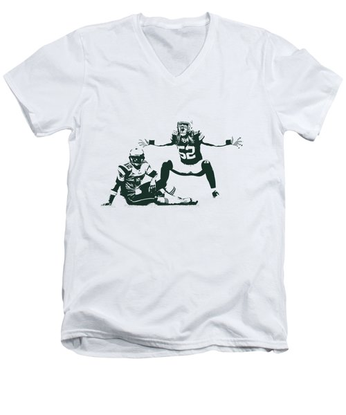 Packers Clay Matthews Sack Men's V-Neck T-Shirt