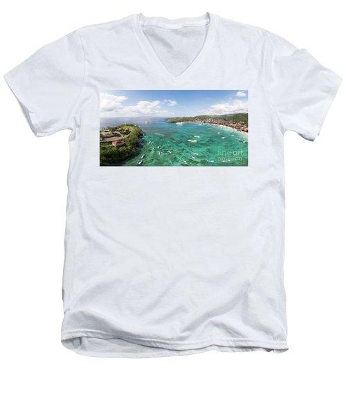 Padang Bai Panorama In Bali Men's V-Neck T-Shirt