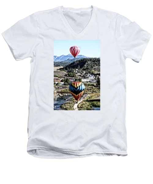 Pagosa Springs Colorfest 2015 Men's V-Neck T-Shirt by Kevin Munro