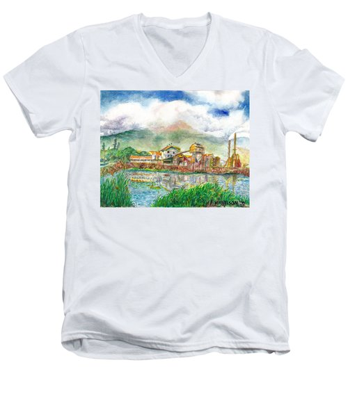 Paia Mill 1 Men's V-Neck T-Shirt by Eric Samuelson