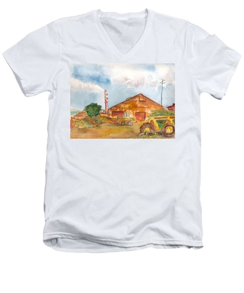 Paia Mill 3 Men's V-Neck T-Shirt by Eric Samuelson