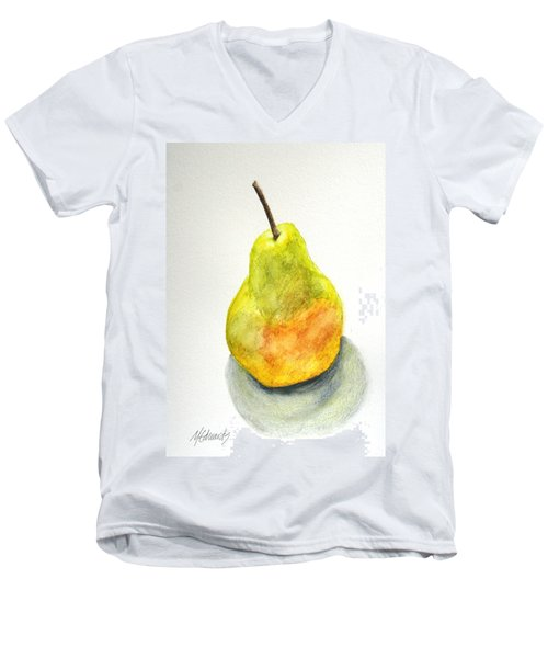 Paint Before Eating Men's V-Neck T-Shirt by Marna Edwards Flavell