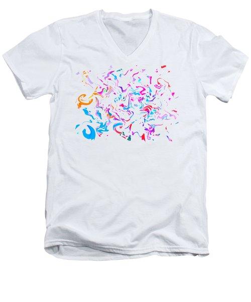 Paint Experiment 033 Men's V-Neck T-Shirt