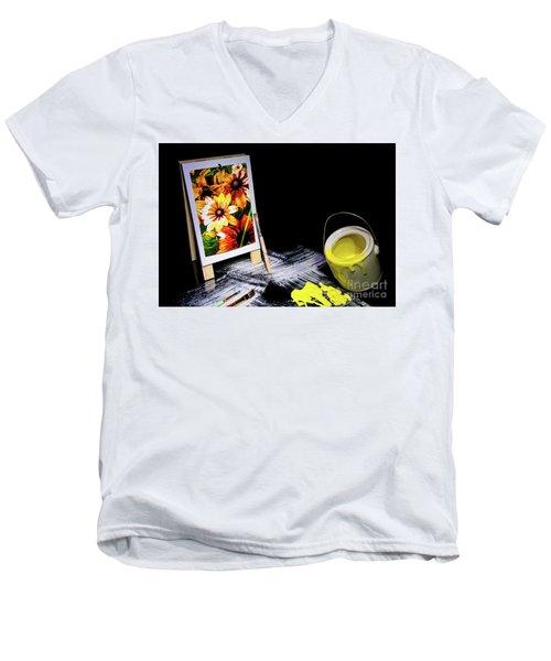 Painted Canvas Men's V-Neck T-Shirt