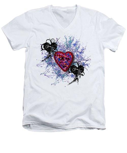 Painted Heart 3 Men's V-Neck T-Shirt