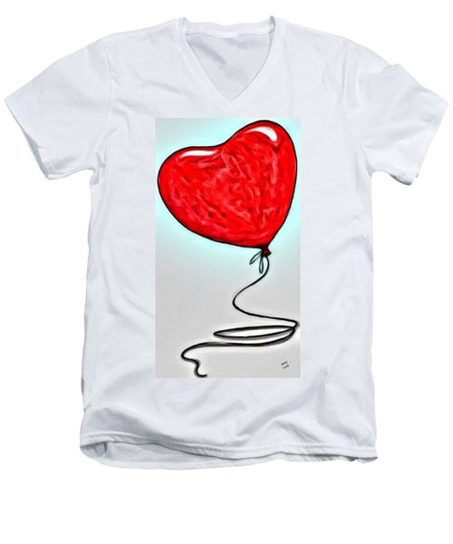 Painted Heart Men's V-Neck T-Shirt