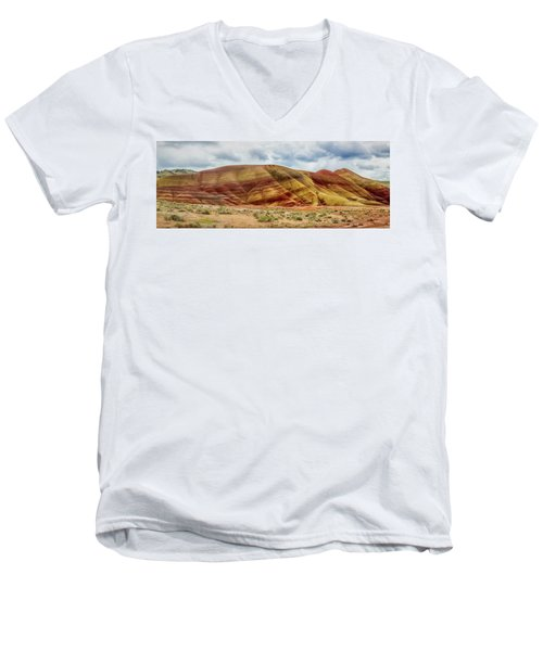 Painted Hills Panorama 2 Men's V-Neck T-Shirt
