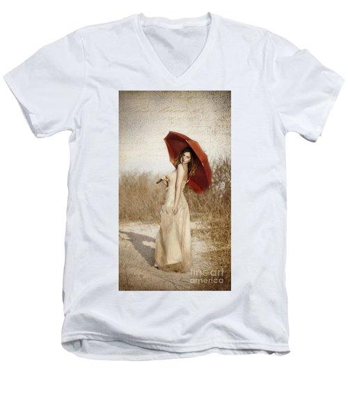 Painted Lady Narrow Men's V-Neck T-Shirt