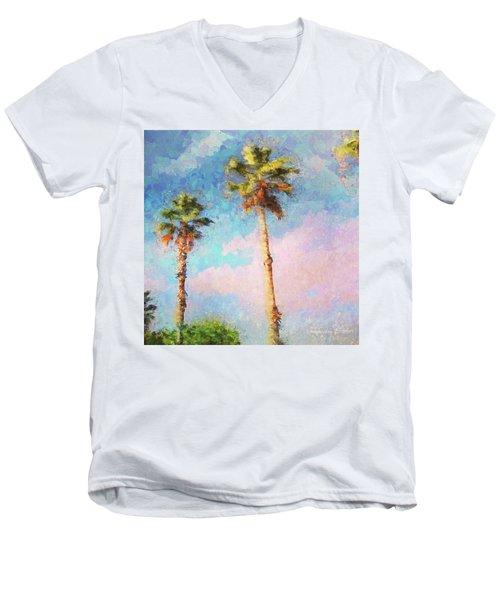 Painted Palms Men's V-Neck T-Shirt