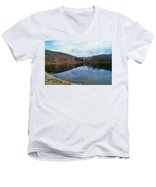 Men's V-Neck T-Shirt featuring the photograph Painted Rock Conservation Area by Cricket Hackmann