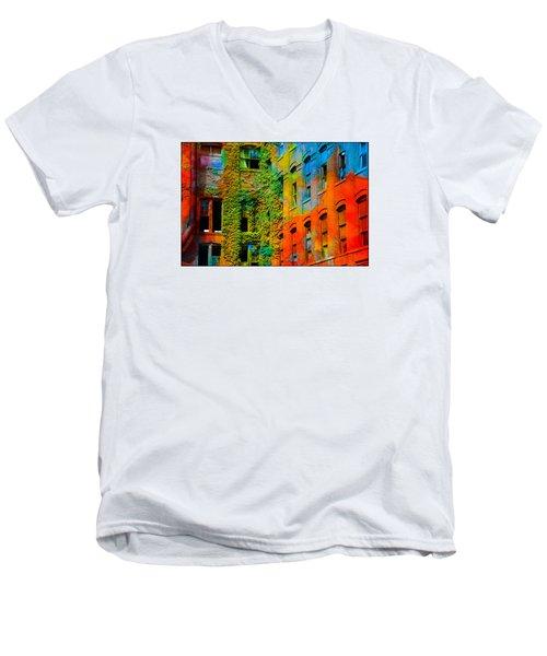 Painted Windows Men's V-Neck T-Shirt