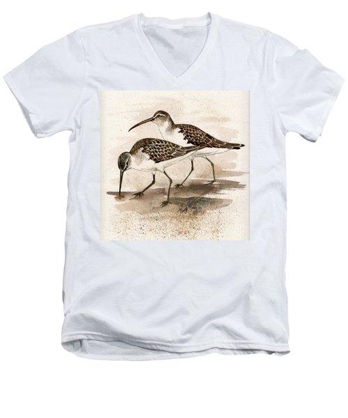 Pair Of Sandpipers Men's V-Neck T-Shirt