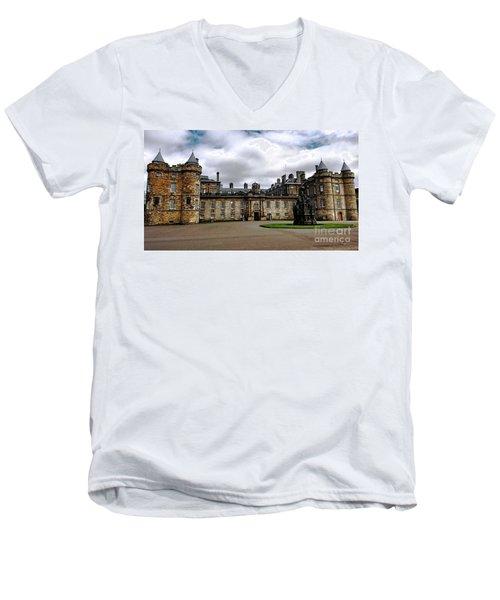 Palace Of Holyroodhouse  Men's V-Neck T-Shirt by Judy Palkimas