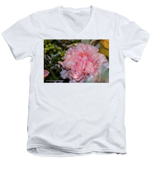 Pale Pink Carnation Men's V-Neck T-Shirt