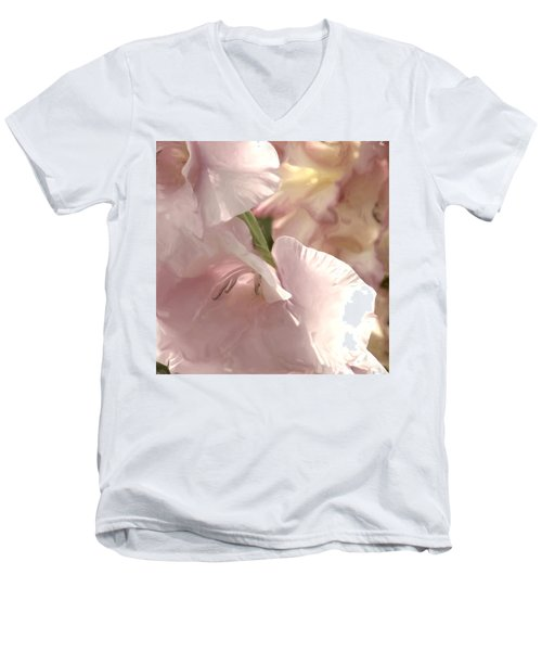 Pale Pink Glads Men's V-Neck T-Shirt