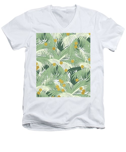 Palm And Gold Men's V-Neck T-Shirt