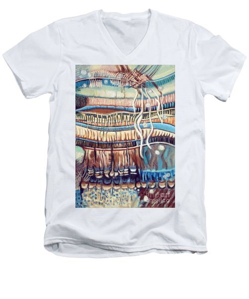 Palm Contractions Men's V-Neck T-Shirt by Kerryn Madsen-Pietsch