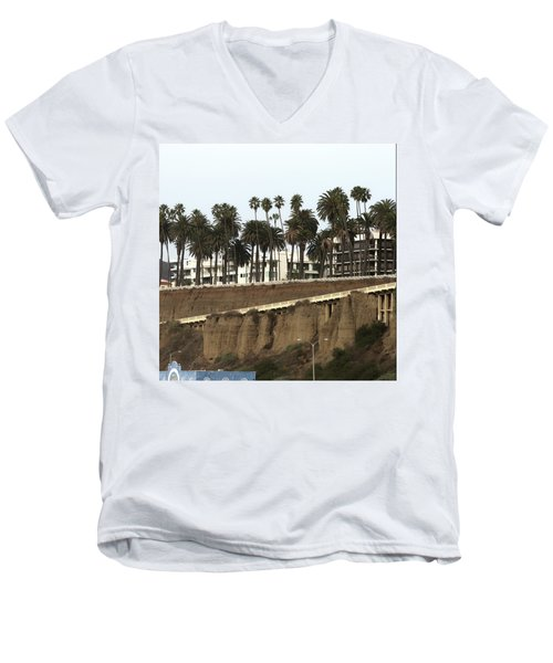 Palm Trees And Apartments Men's V-Neck T-Shirt