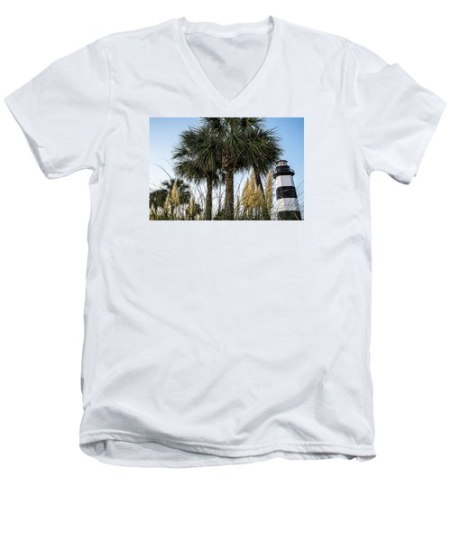 Palms At Lightkeepers Men's V-Neck T-Shirt