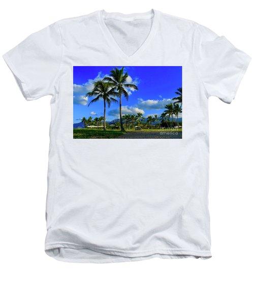Palms In The Morning Men's V-Neck T-Shirt