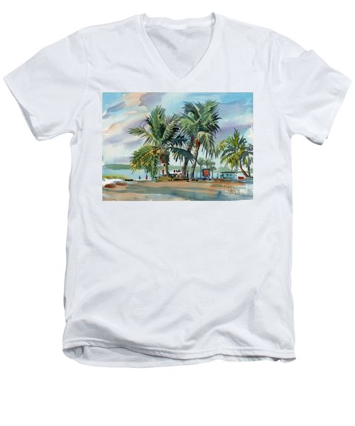Palms On Sanibel Men's V-Neck T-Shirt